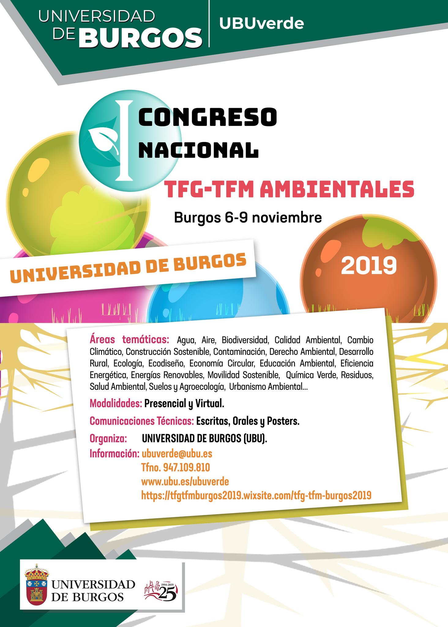 Cartel Congreso TFG TFM Ambientales